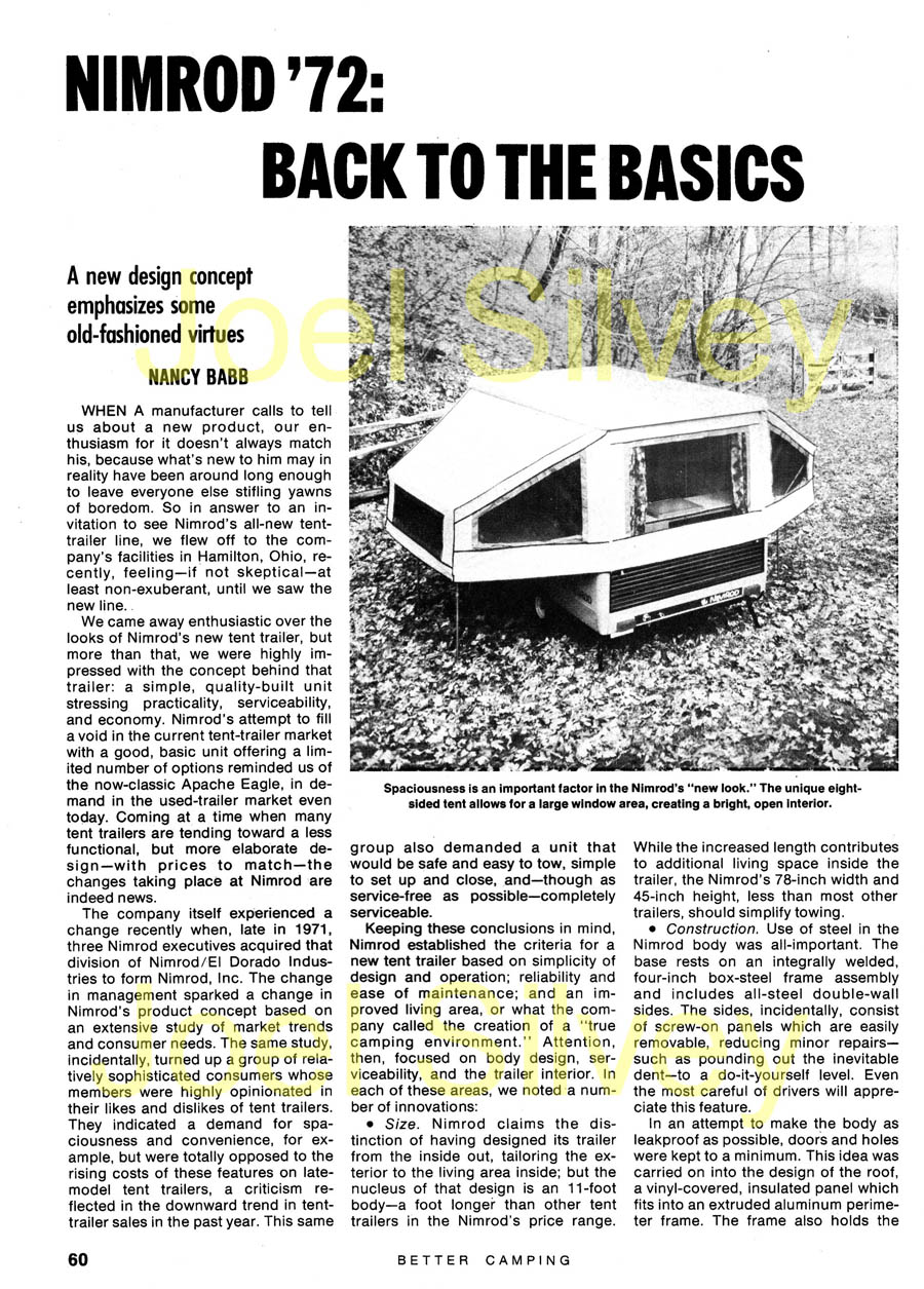 Pop-up Camper History