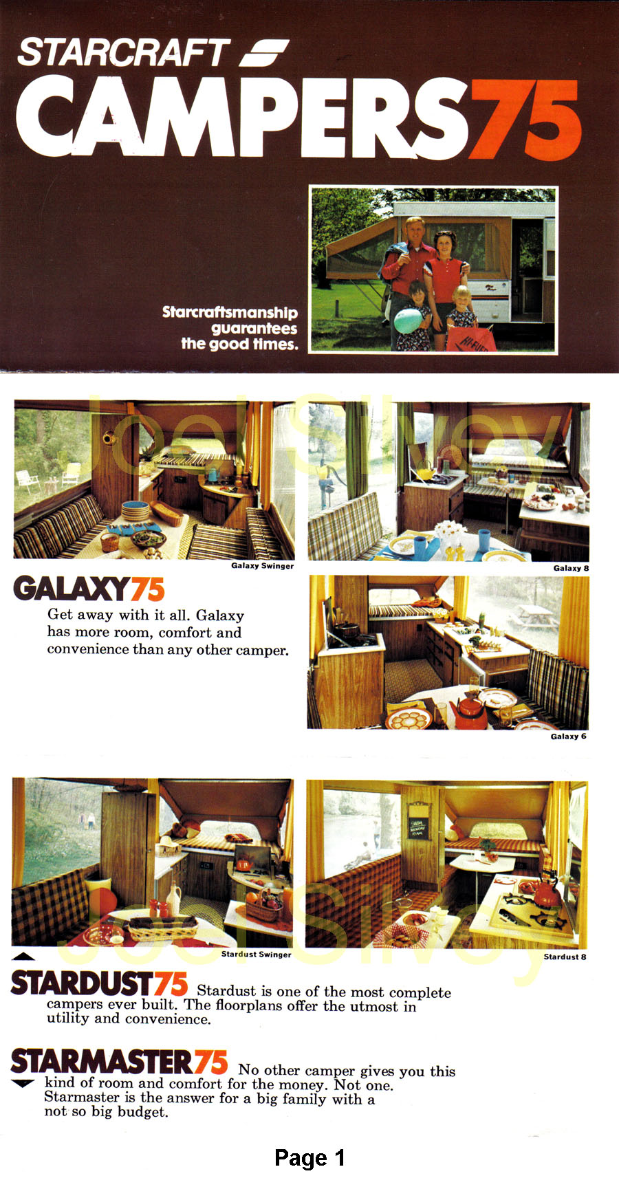 1975 Starcraft Pop Up Camper